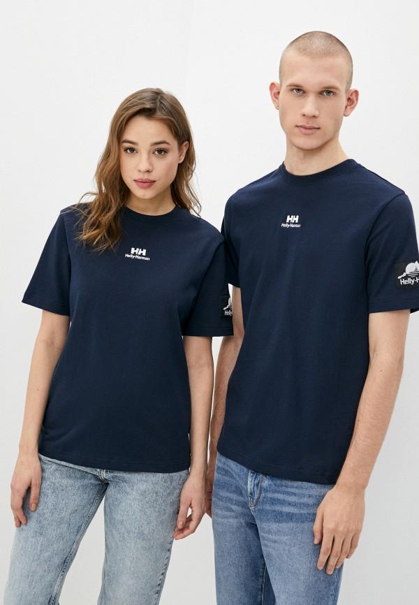 женская спортивные футболка helly hansen, синяя