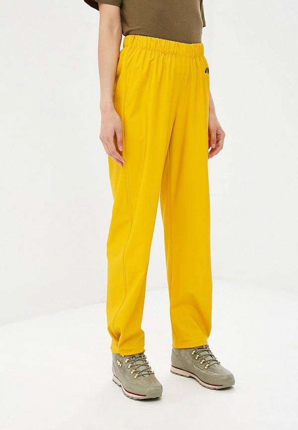 женские спортивные спортивные брюки helly hansen, желтые