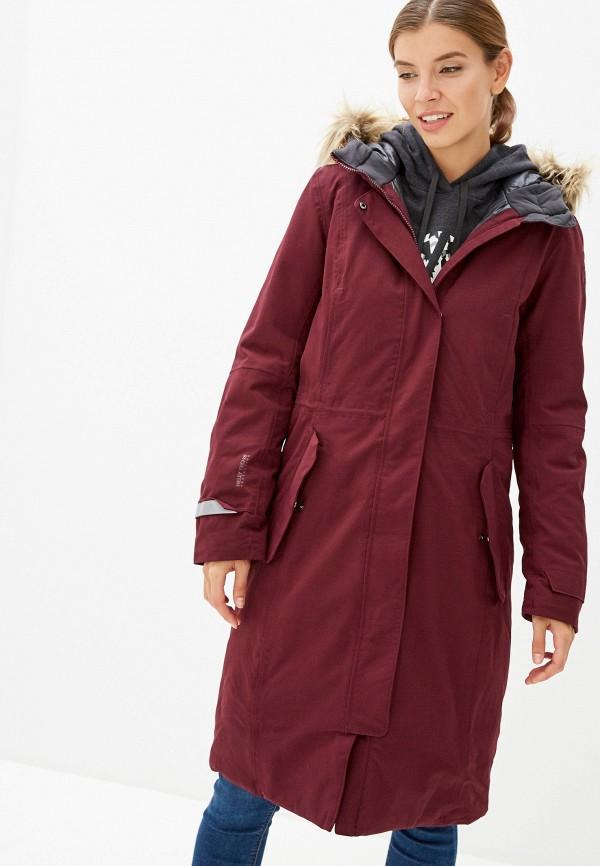 женская куртка helly hansen, бордовая