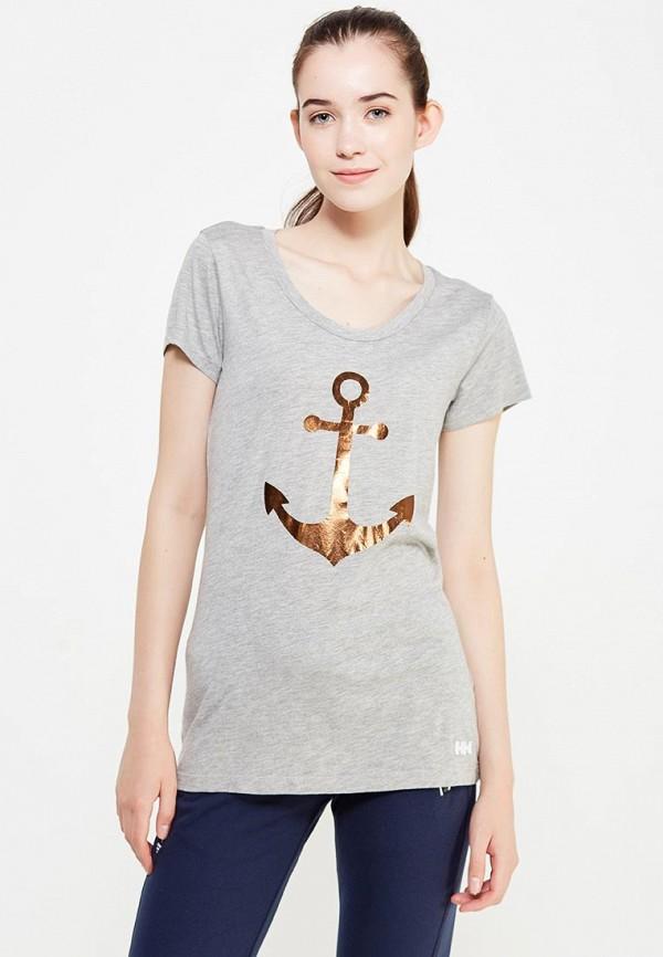 женская спортивные футболка helly hansen, серая