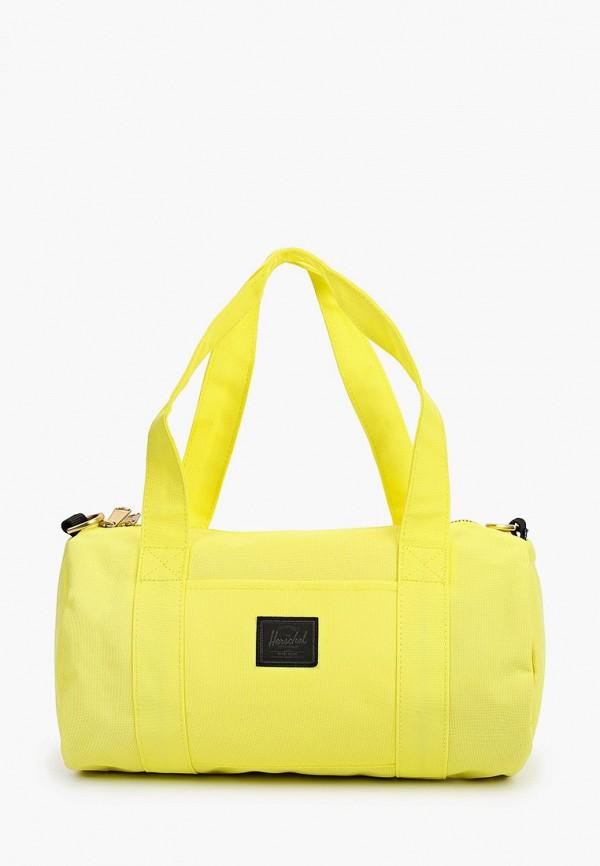 женская сумка herschel supply co, желтая