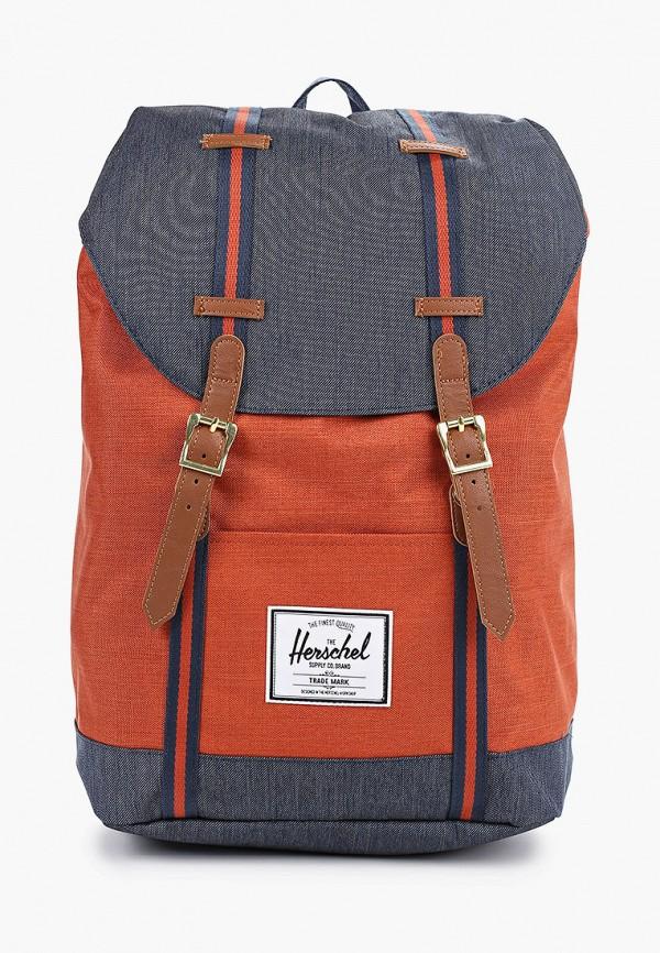 женский рюкзак herschel supply co, оранжевый