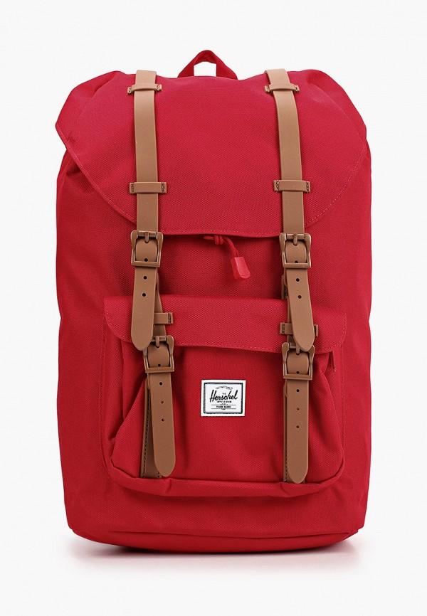женский рюкзак herschel supply co, красный