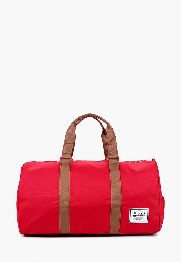 женская сумка herschel supply co, красная