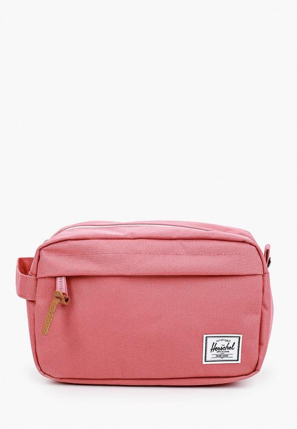 женская косметичка herschel supply co, розовая