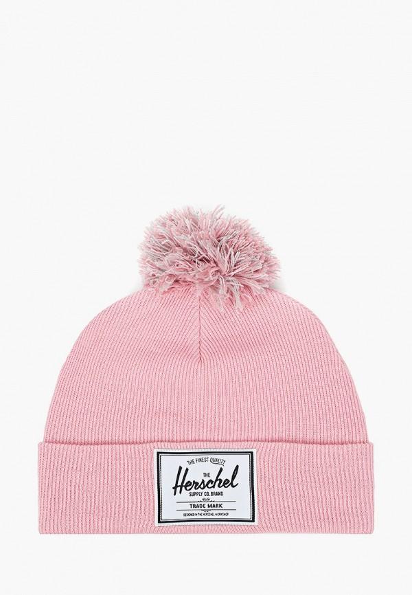 шапка herschel supply co для девочки, розовая