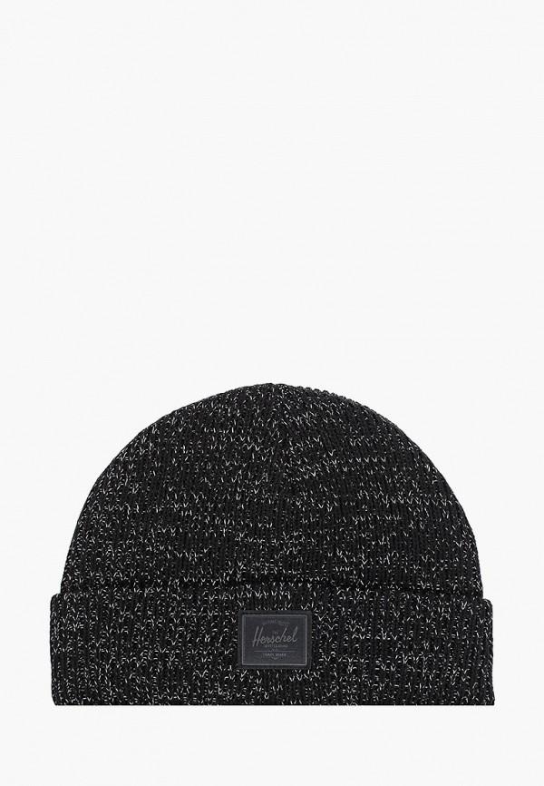 шапка herschel supply co малыши, черная