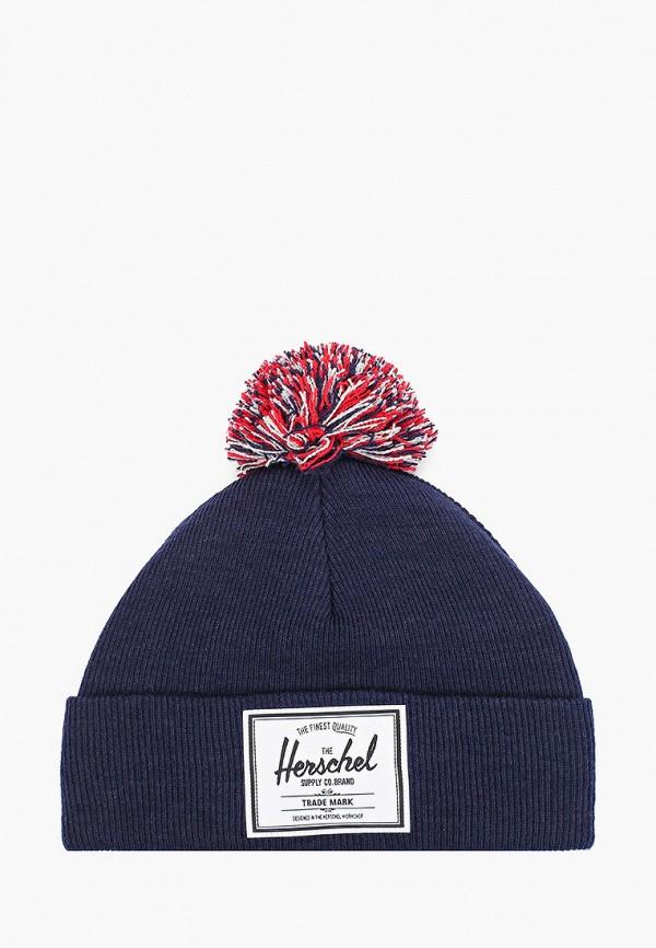 шапка herschel supply co малыши, синяя