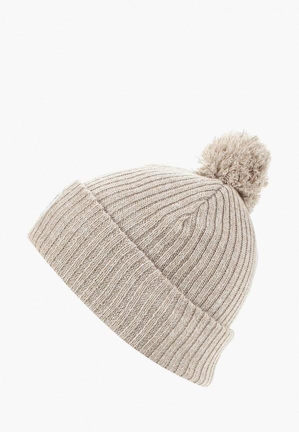 женская шапка herschel supply co, бежевая