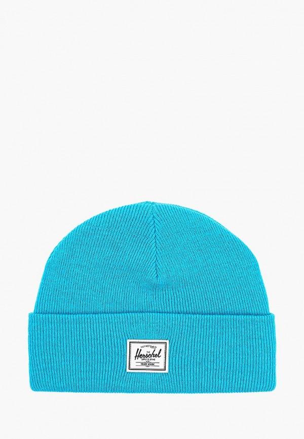 женская шапка herschel supply co, голубая