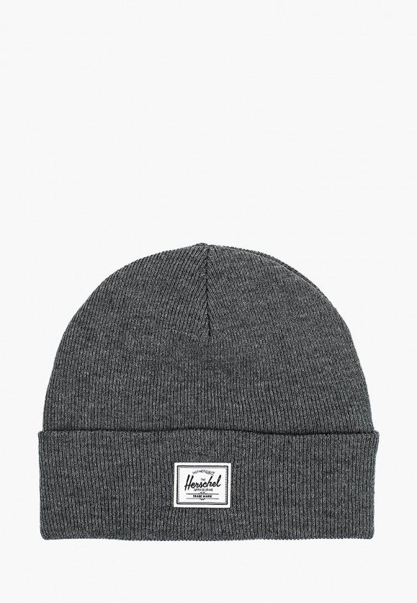 женская шапка herschel supply co, серая