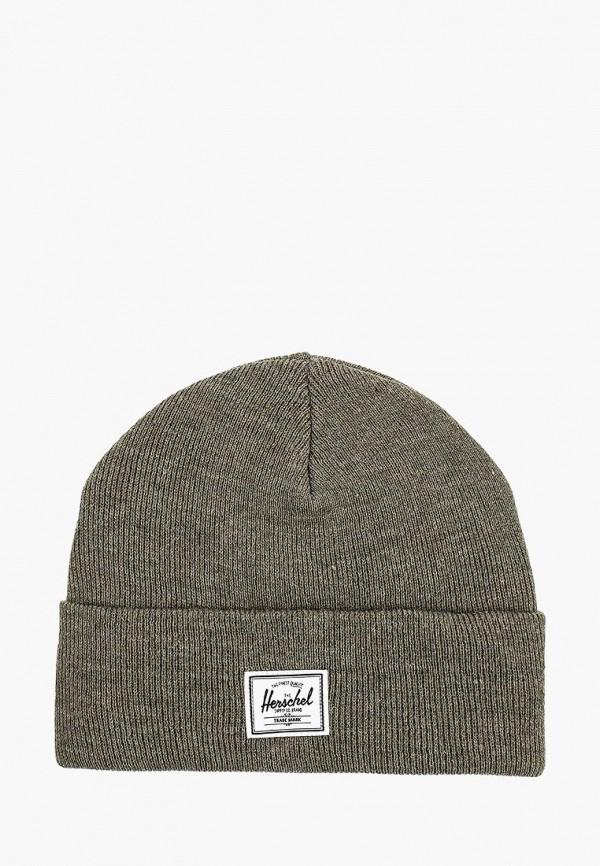 женская шапка herschel supply co, хаки