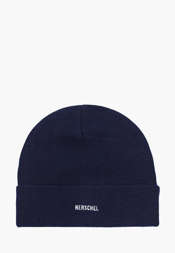 женская шапка herschel supply co, синяя