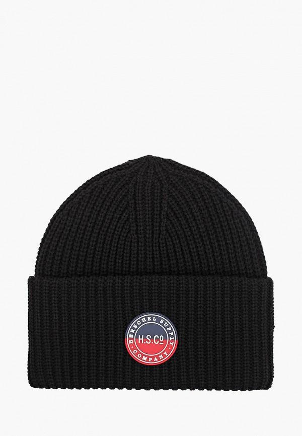женская шапка herschel supply co, черная