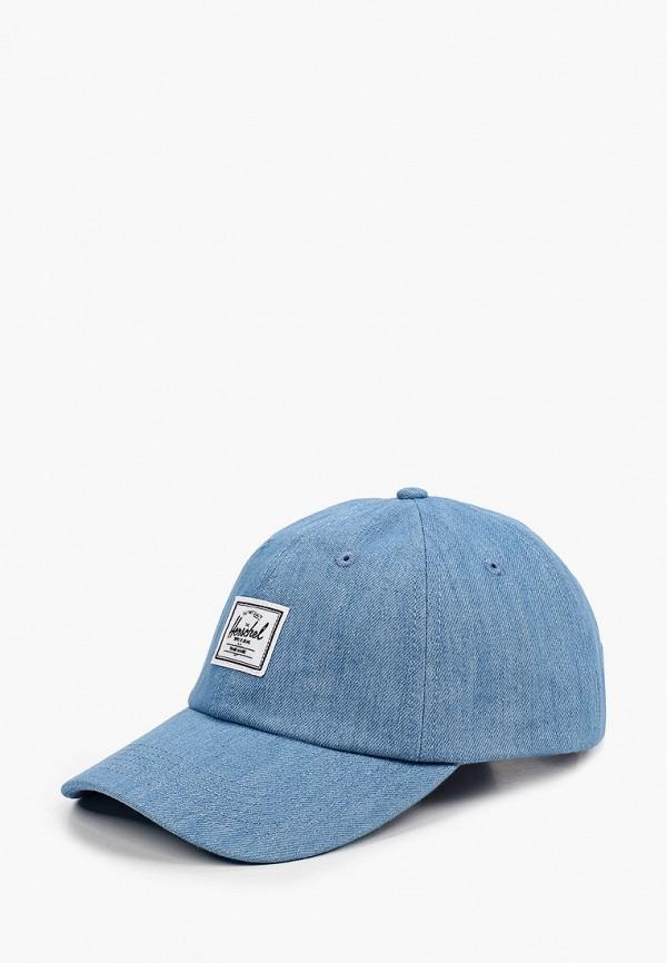 женская бейсболка herschel supply co, голубая