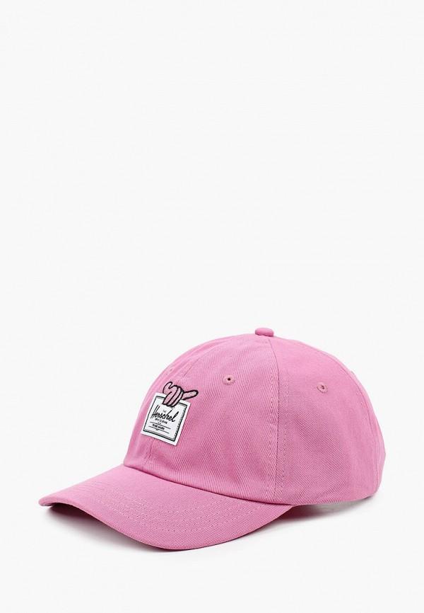 женская бейсболка herschel supply co, розовая