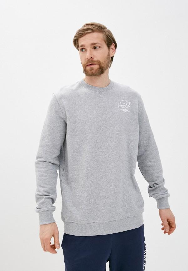 мужской свитшот herschel supply co, серый