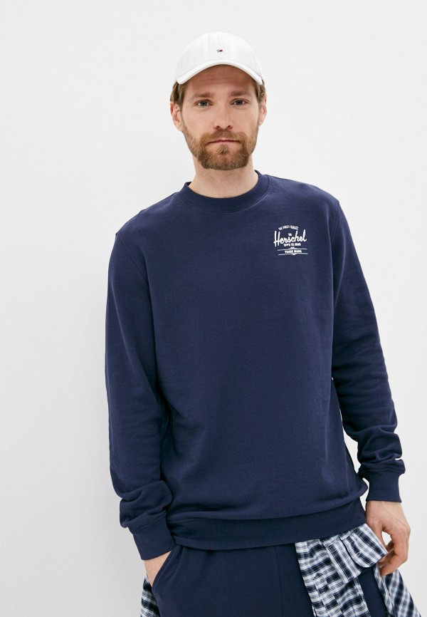 мужской свитшот herschel supply co, синий