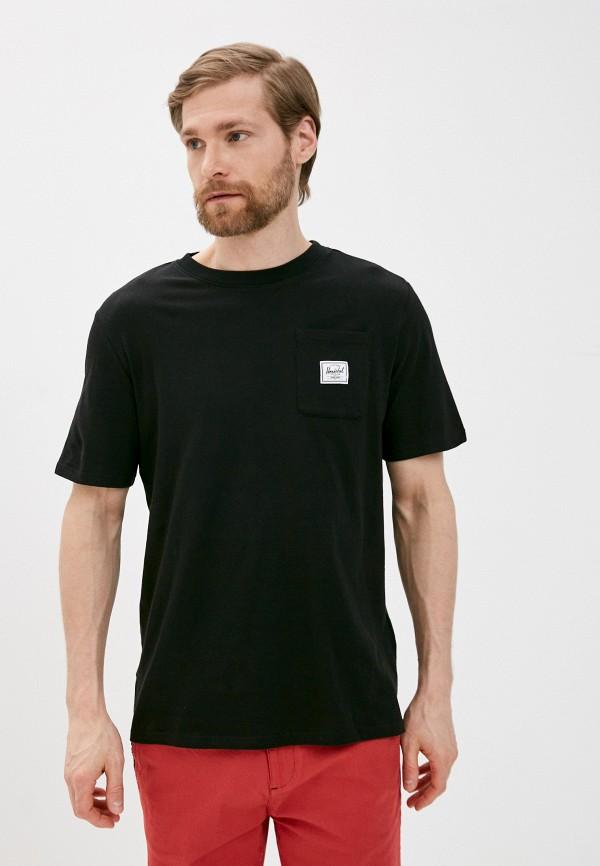 мужская спортивные футболка herschel supply co, черная