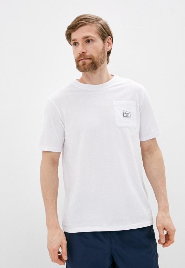 мужская спортивные футболка herschel supply co, белая