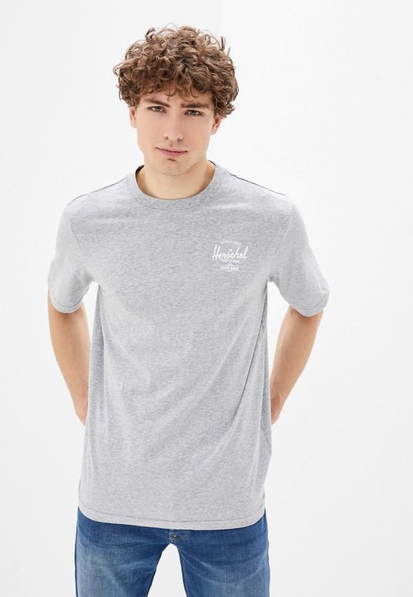 мужская спортивные футболка herschel supply co, серая