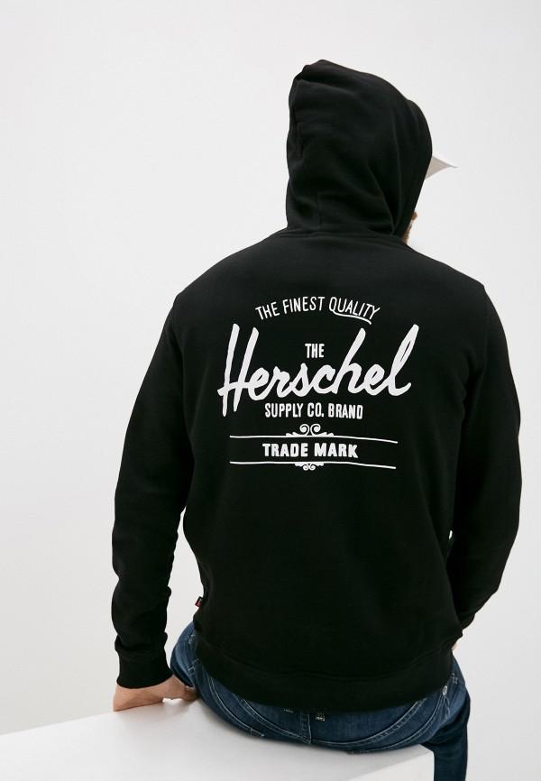 мужские худи herschel supply co, черные