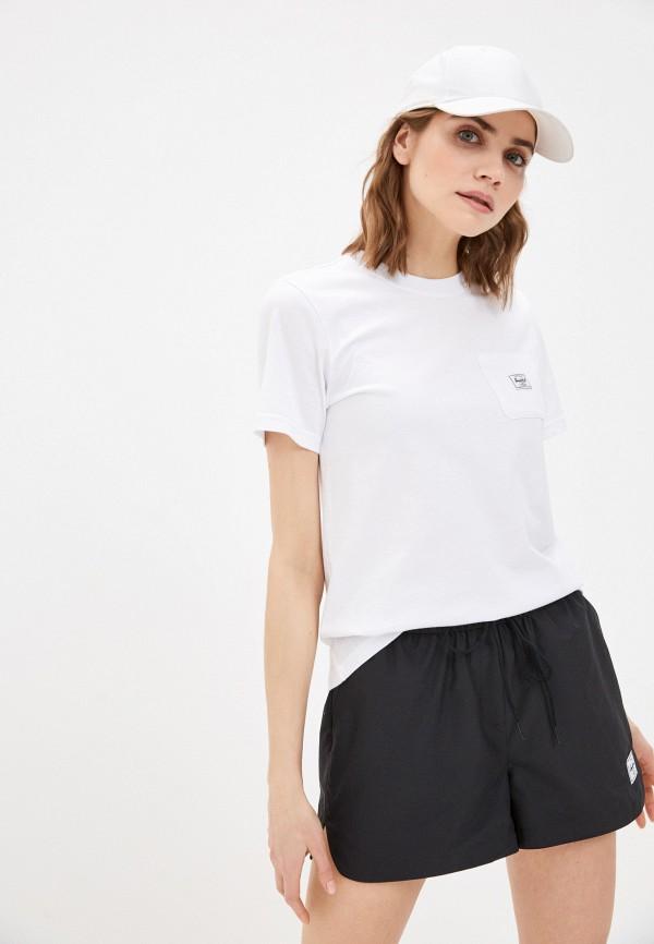 женская спортивные футболка herschel supply co, белая