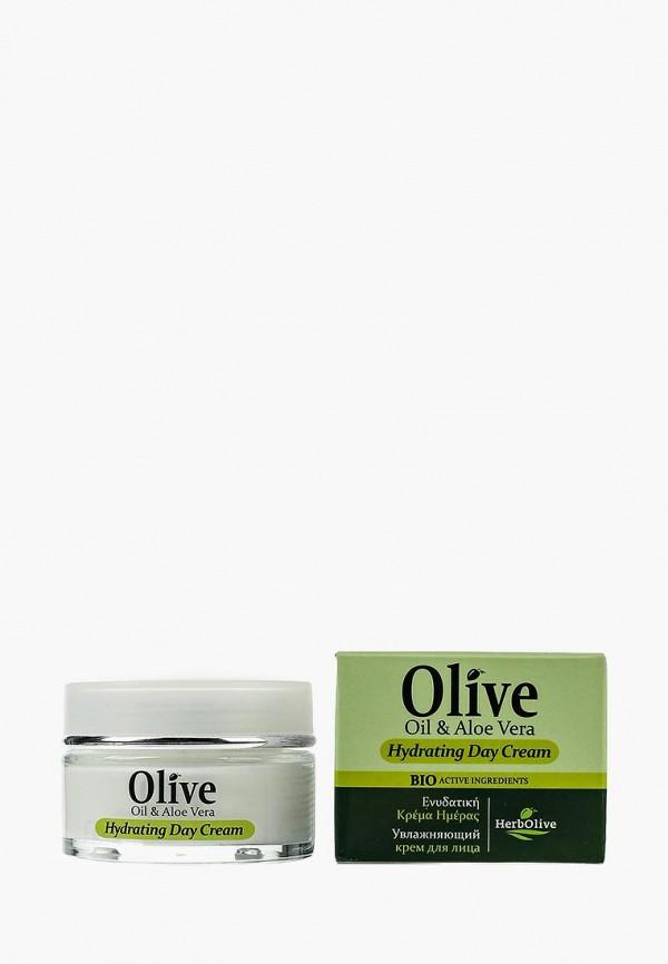 Купить Крем для лица HerbOlive, увлажняющий дневной с алоэ-вера, 50 мл, he016lwsjv17, Весна-лето 2019