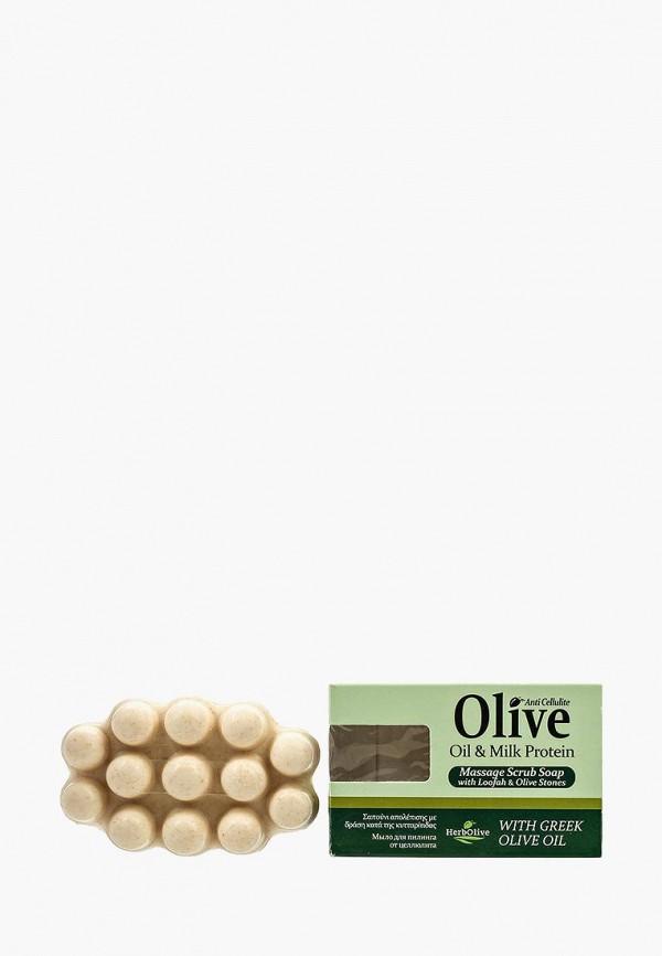 Купить Мыло HerbOlive, Массажное для пилинга с молочным протеином против целлюлита, 100 гр, he016lwskn49, Весна-лето 2019