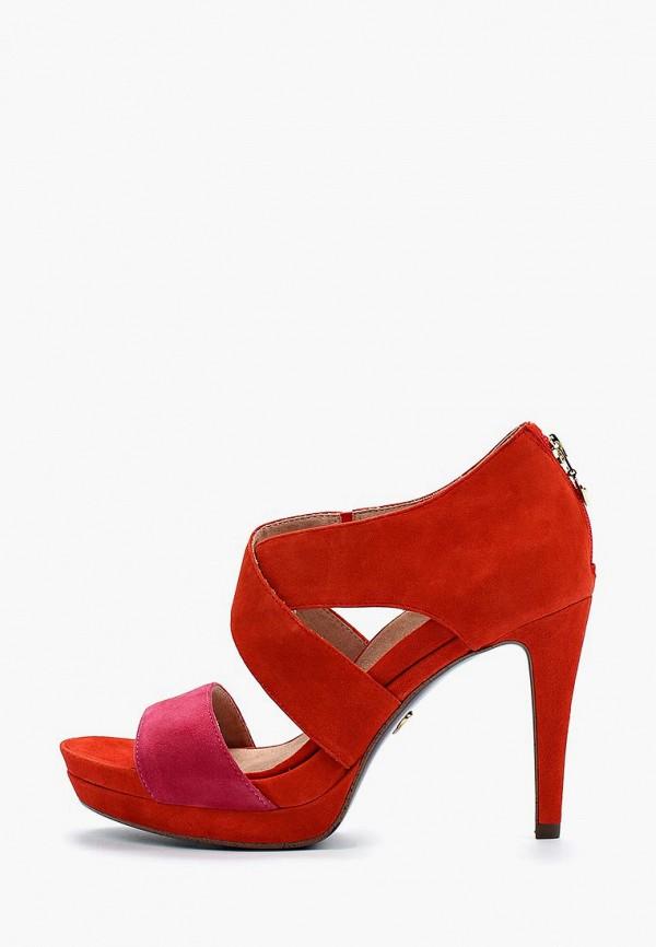 женские босоножки heart & sole by tamaris, красные