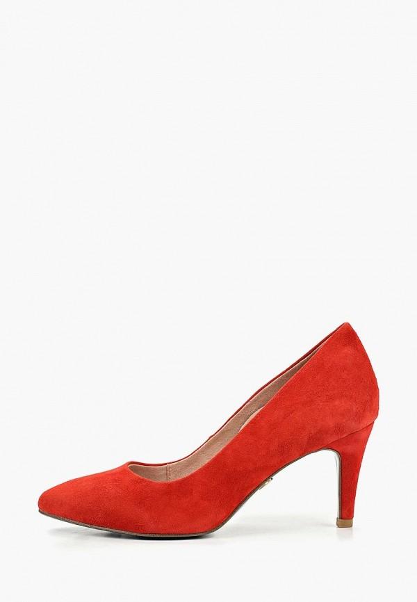 женские туфли heart & sole by tamaris, красные