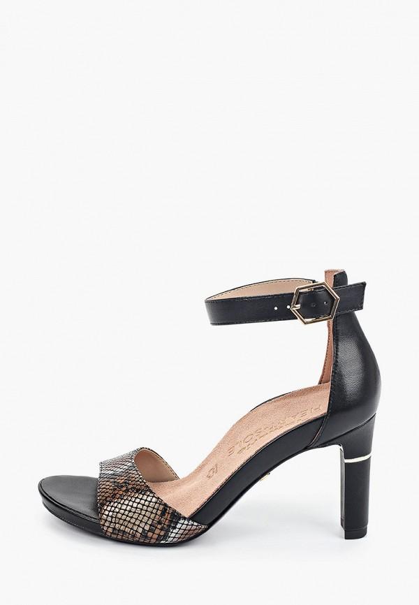 женские босоножки heart & sole by tamaris, черные