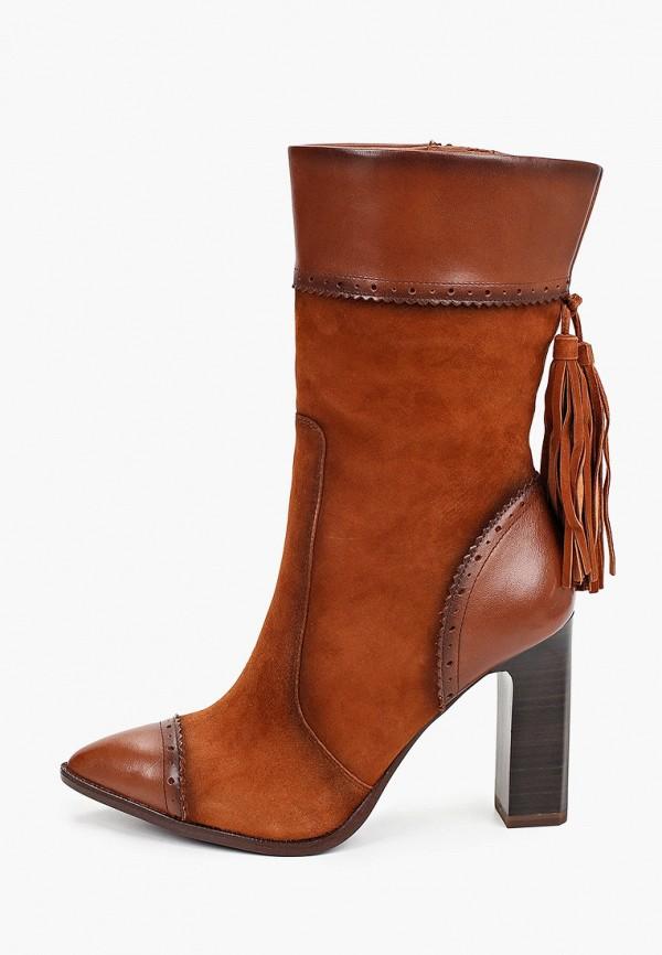 женские полусапожки tamaris heart & sole, коричневые