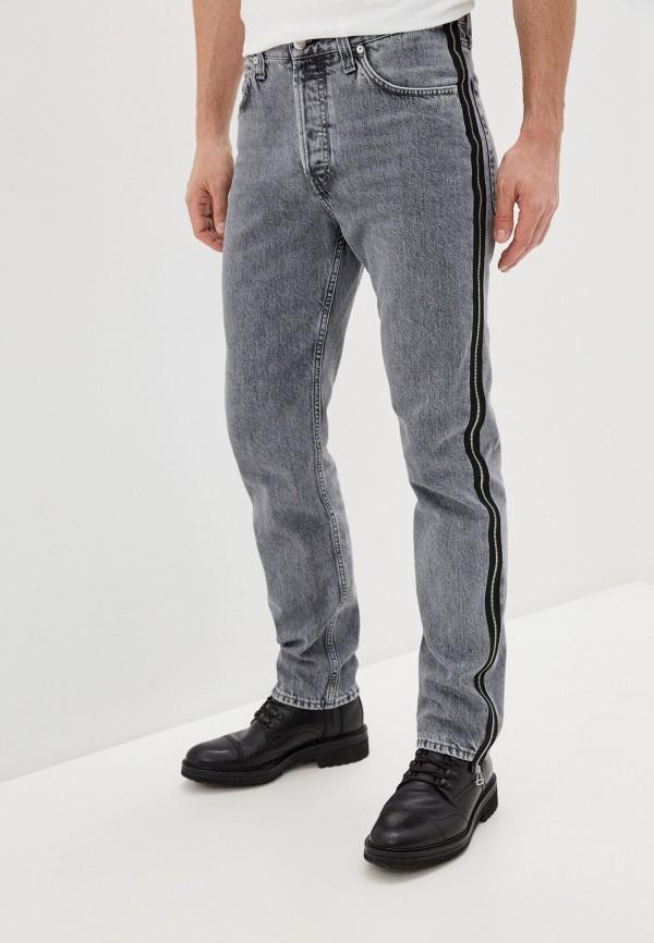 мужские зауженные джинсы helmut lang, серые
