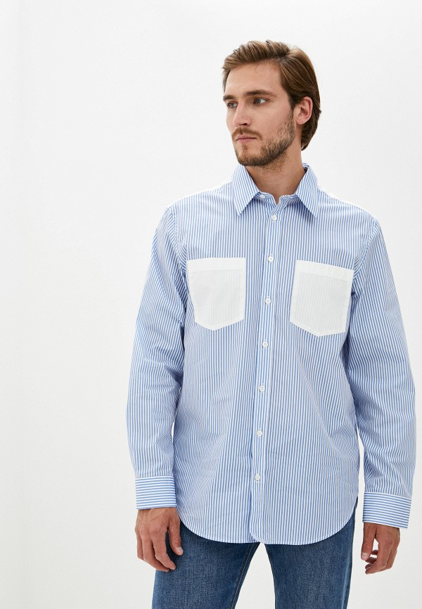 мужская рубашка с длинным рукавом helmut lang, голубая
