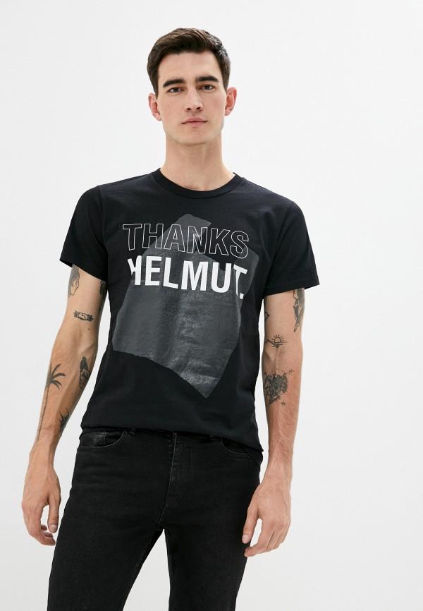мужская футболка helmut lang, черная