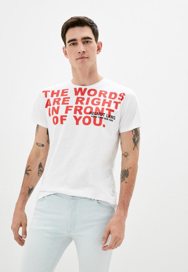 мужская футболка helmut lang, белая