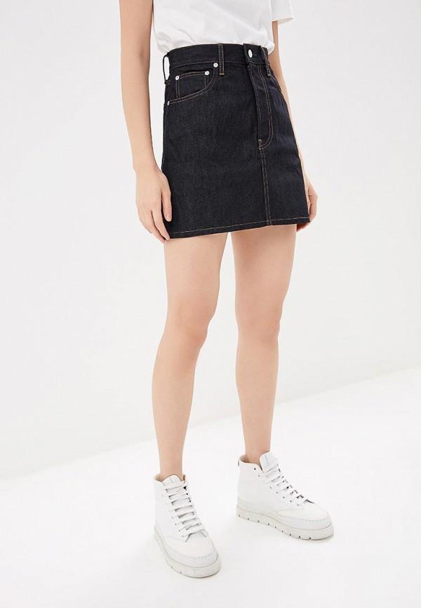цены на Юбка джинсовая Helmut Lang Helmut Lang HE025EWECZZ3  в интернет-магазинах