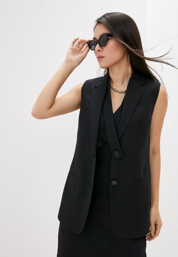 женский жилет helmut lang, черный