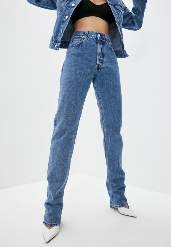 женские джинсы бойфренд helmut lang, синие
