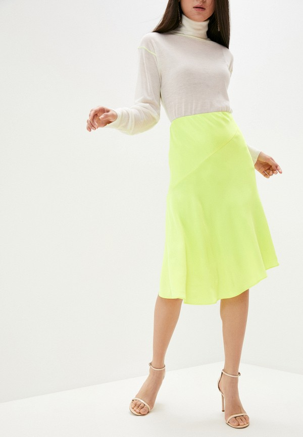 женская юбка helmut lang, желтая