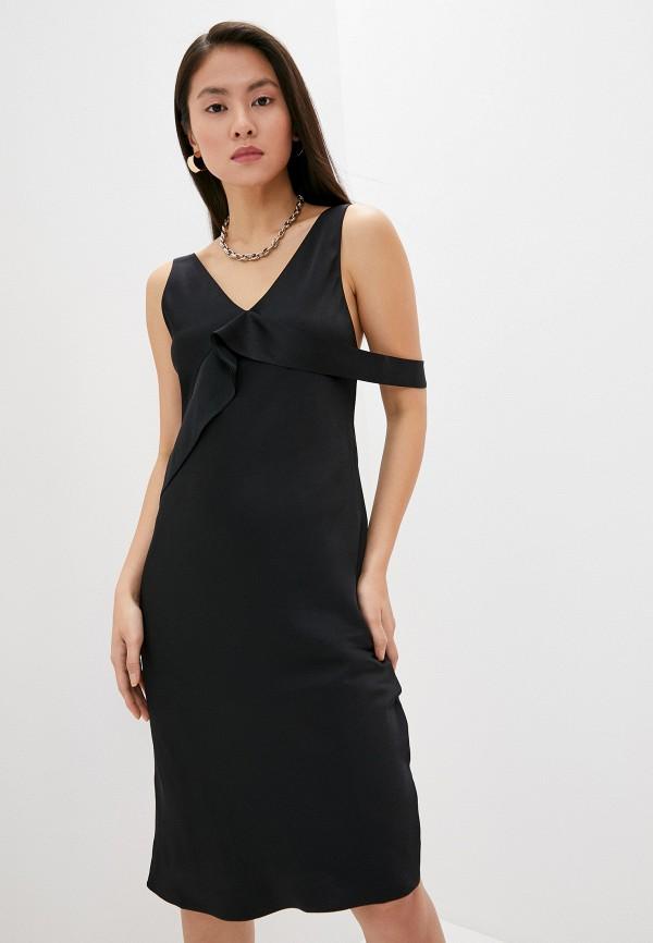 женское вечерние платье helmut lang, черное