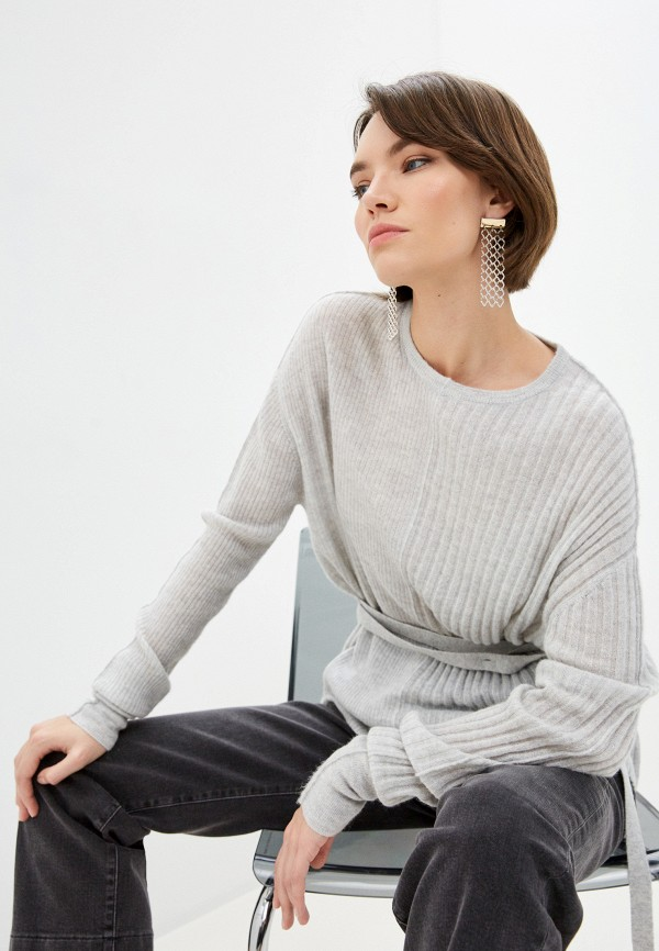 женский джемпер helmut lang, серый