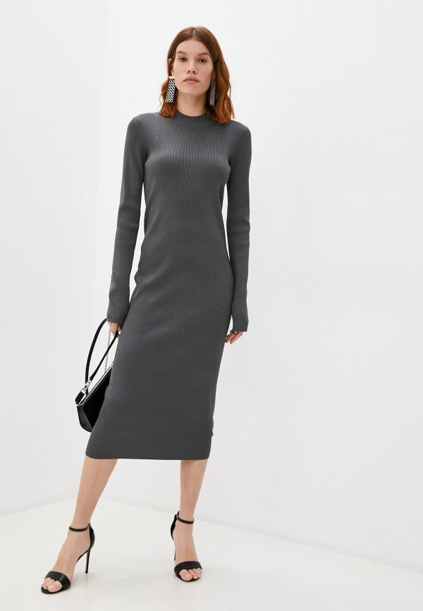 женское платье helmut lang, серое