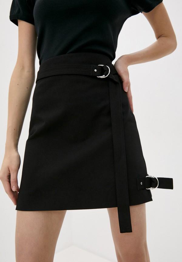 женская прямые юбка helmut lang, черная