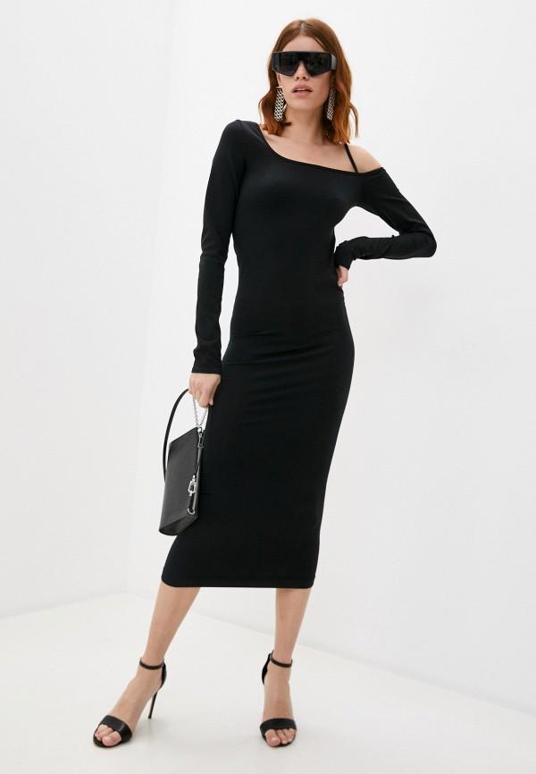 женское платье-футляр helmut lang, черное