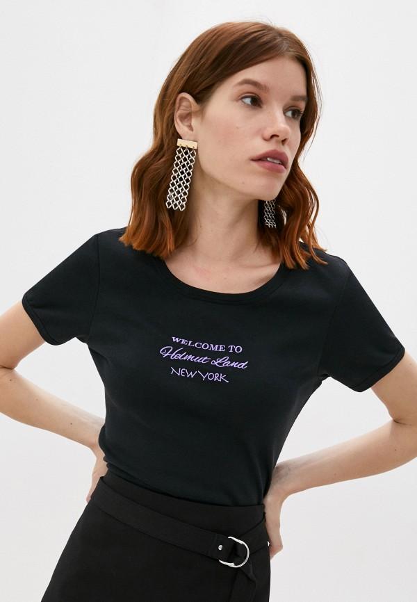 женская футболка helmut lang, черная