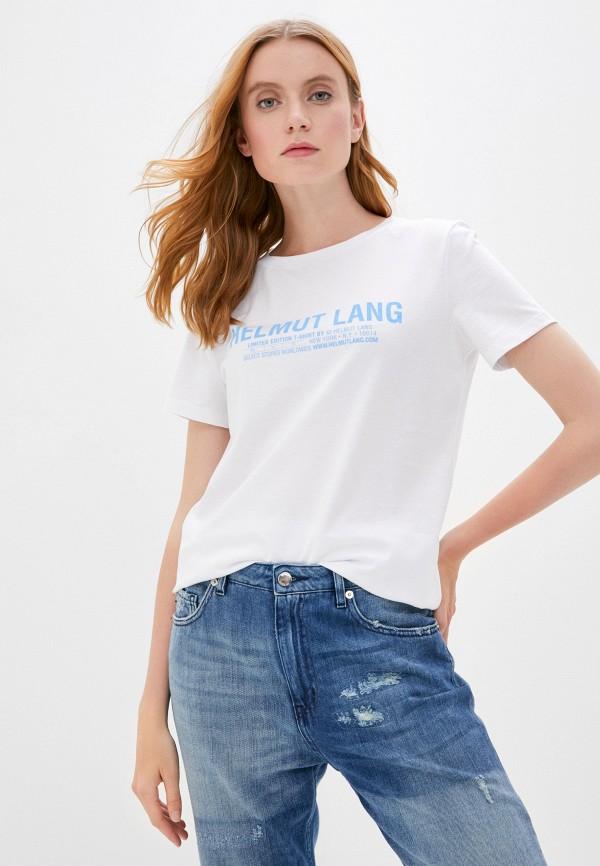 женская футболка helmut lang, белая