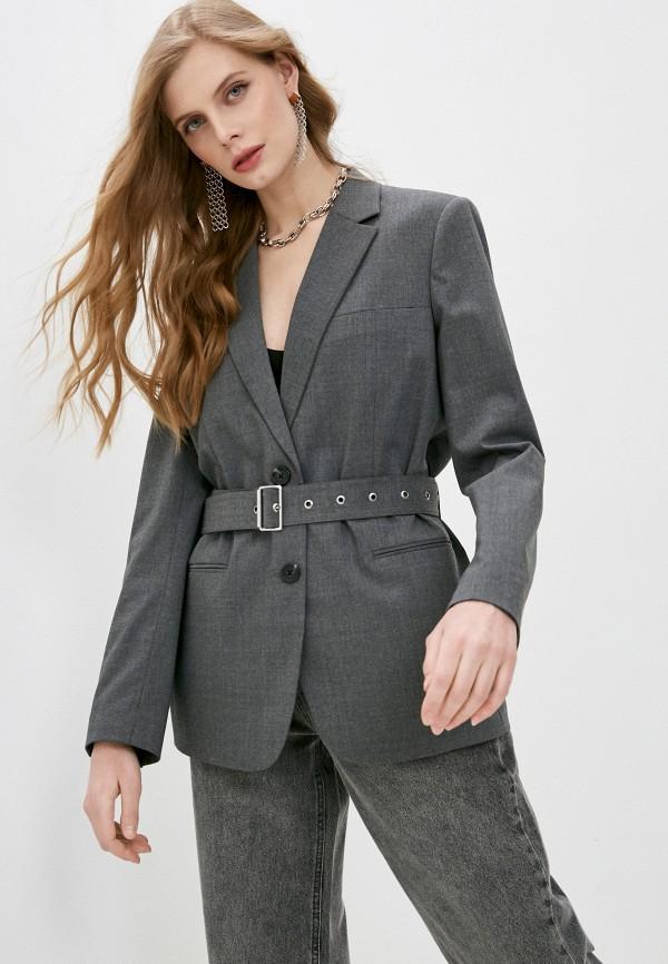 женский пиджак helmut lang, серый