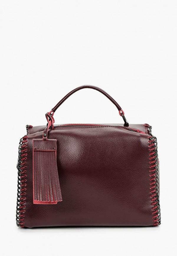 сумка hey look для девочки, бордовая